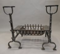 A cast iron Arts and Crafts fire place. 70 cm high.