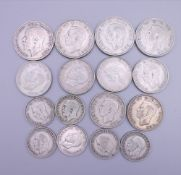 A quantity of pre 1947 mixed coins.