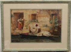 Venice Scene, watercolour, signed J KEELING, framed and glazed. 43.5 x 29.5 cm.