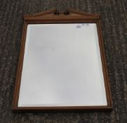 A Victorian Maple and Co mirror. 96 cm high.