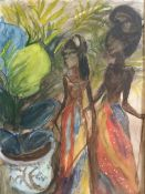 ENGLISH SCHOOL (20th century), Study of Two Figures, possibly African, watercolour,