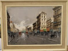 Paris Scene, oil, signed ALVAREZ, framed. 70 x 49.5 cm.