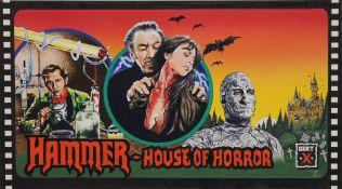 A Hammer House of Horror, gouache on card, unframed. 35 x 23 cm overall.