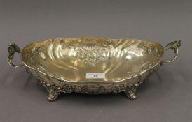 An 800 silver fruit bowl. 32 cm wide. 16.4 troy ounces.