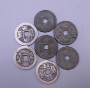 A bag of Chinese coins