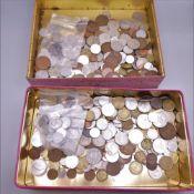 A coin collection.