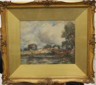 T MORLEY, Wroxham Bridge, Norfolk, watercolour, framed and glazed. 26 x 21.5 cm.