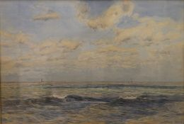 HENRY MOORE RA (1831-1895) British, A Bright Breezy Day in The Channel, watercolour,