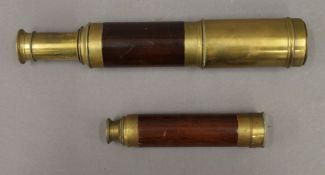 A Day and Night telescope and another. The latter 44 cm long.