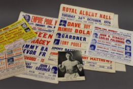 A quantity of vintage Dave Boy Green boxing posters.