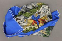 A Jacqmar silk scarf.