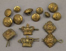 A set of military dress buttons, etc.
