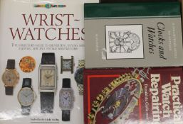 A box of watch and clock reference books
