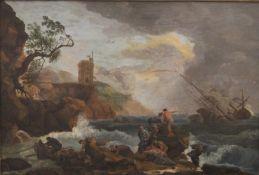 CLAUDE-JOSEPH VERNET (1714-1789) French, Ship Wreck in Choppy Sea, oil on board,