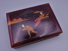 An early 20th century Japanese lacquered photograph album,