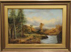 County Scene, oil on canvas, signed W JONES, framed. 45 x 30 cm.