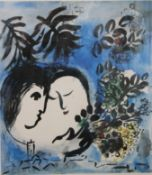 MARC CHAGALL (1887-1985) Russian-French (AR), The Lovers, limited edition print, numbered 20/150,