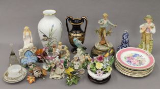 A quantity of miscellaneous porcelain, etc.