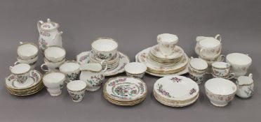 A quantity of Duchess and other porcelain tea wares.