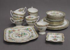 A Coalport Ming Rose porcelain tea set and various dinner wares.