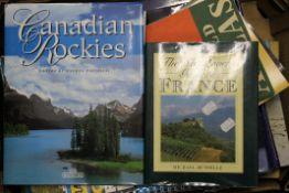 A quantity of travel books, etc.