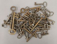 A collection of antique/vintage keys.