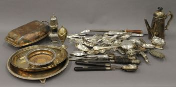 A quantity of miscellaneous silver plate.