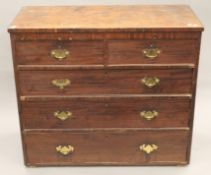 A 19th century mahogany chest of drawers. 104 cm wide.
