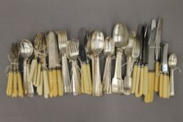 A quantity of plated cutlery