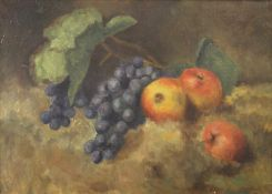 Still Life, oil on canvas, signed with initials, framed. 44.5 x 32 cm.