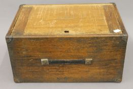 A vintage Moore & Wright tool maker's/engineer's cabinet. 43 cm wide.