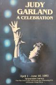 A Judy Garland show poster, framed. 36.5 x 56.5 cm.
