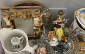 A quantity of miscellaneous ceramics, glass, mirror, etc.