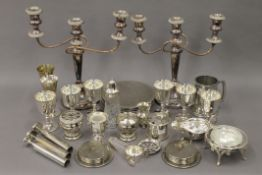 A quantity of miscellaneous silver plate