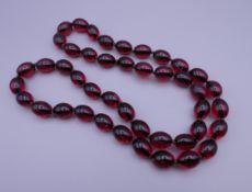 A dress bead necklace.