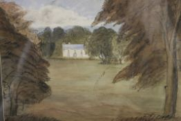 JOHN PIPER (1903-1992) British (AR), Country House View, watercolour, signed and dated 1945,