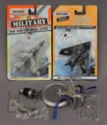 A quantity of aircraft ephemera, bottle stoppers,
