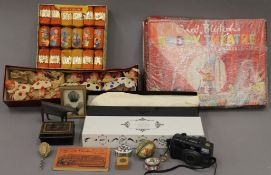 A quantity of miscellaneous items, including vintage Christmas crackers, boxed Noddy Theatres, etc.