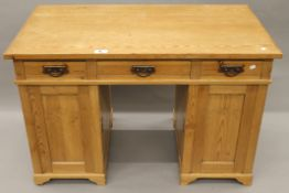 A 19th century Continental pine desk. 121 cm wide.