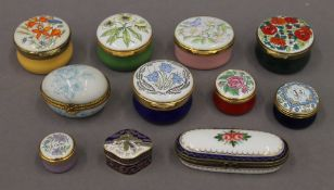 A quantity of Crummles and Halcyon Days enamel boxes, etc.