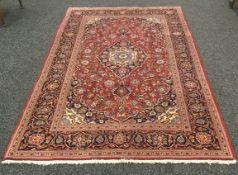 A fine Kashan carpet. 208 x 135 cm.