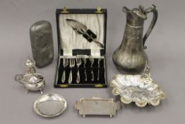 A small quantity of silver plate, etc.