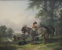 HENRY SHAYER (1825-1894) and CHARLES SHAYER (1826-1914), A Gypsy Girl with her Donkeys,