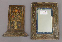 An 18th/19th century Indian mirror case.