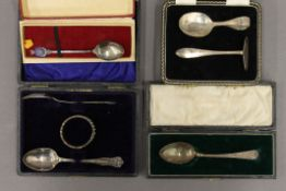 Four cases of silver spoons/Christening sets. 3 troy ounces.