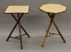 Two Victorian bamboo side tables.