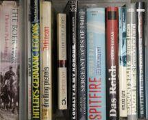 A box of military books