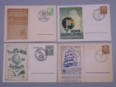 Four Nazi era postcards, with postmarks.