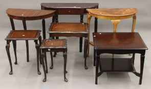 A quantity of various side tables.