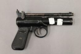 A Webley air pistol. 18 cm long.